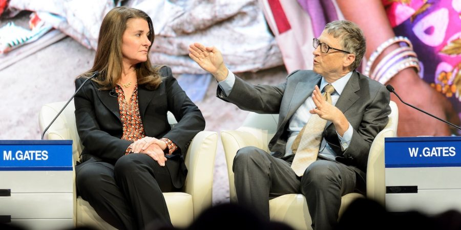 Melinda French Gates y Bill Gates. FOTO: JEAN CHRISTOPHE